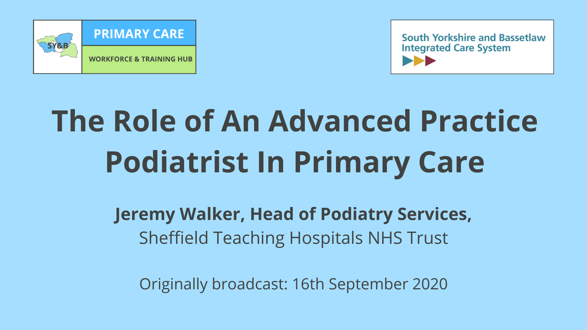 podiatrist advanced practice primary care SY&B